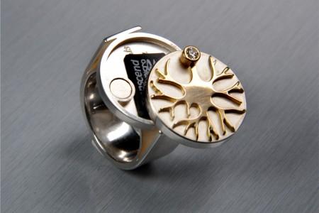 Der Leibniz-Ring - Ring mit Gehirn